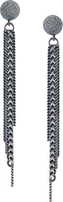 SHERYL LOWE Fringe Earrings with Diamonds