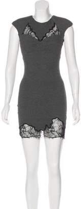 Robert Rodriguez Lace-Accented Mini Dress