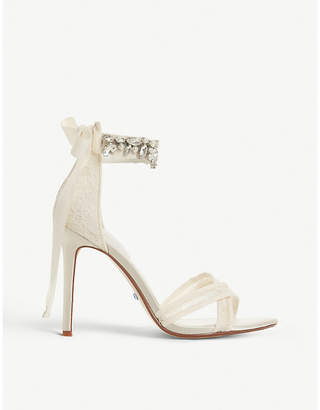 Dune Memories bridal lace heeled sandals
