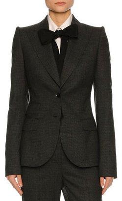 Dolce & Gabbana Stretch-Flannel Suit Jacket, Dark Gray $2,195 thestylecure.com