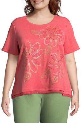 Alfred Dunner Parrot Cay Floral Tee - Plus