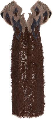 Mary Katrantzou Cutout Sequined Flame Dress
