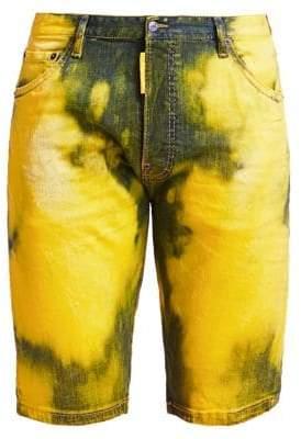 DSQUARED2 Acid-Dyed Denim Shorts