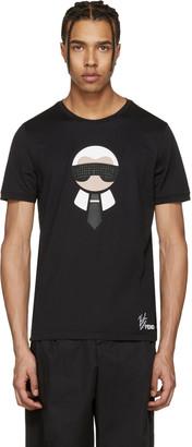 Fendi Black Karlito T-Shirt $750 thestylecure.com