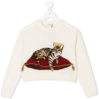 Dolce & Gabbana royal kitten instarsia knit jumper