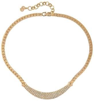 Susan Caplan Vintage 1980s Vintage Christian Dior Swarovski Crystal Necklace