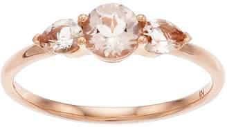 Lauren Conrad 10k Rose Gold Morganite 3-Stone Ring