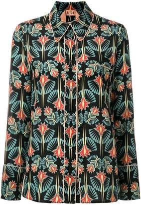 No.21 floral-print shirt