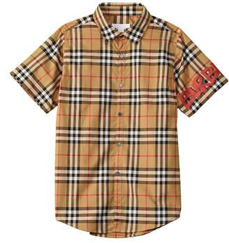 Burberry Graffiti Check Woven Shirt