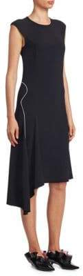 Proenza Schouler Cap-Sleeve Asymmetric Dress