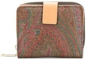 Etro paisley printed zip purse