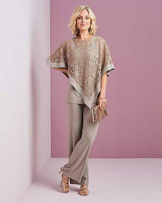Nightingales Mocha Top and Trouser Set
