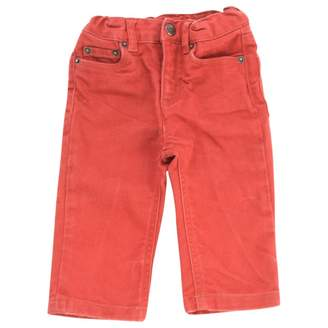 Bonpoint Red Cotton Trousers