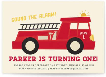 Five Alarm Children's Birthday Party Postcards