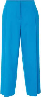 Escada Teli Wide Leg Cotton-Blend Cropped Pants