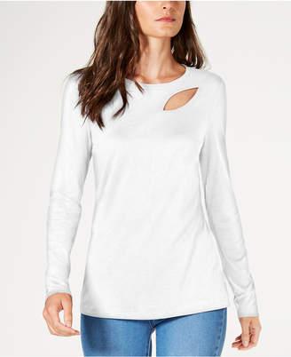 INC International Concepts I.n.c. Cutout Long-Sleeve T-Shirt