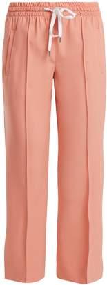 Miu Miu Mid-rise wool-blend cropped trousers