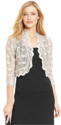 R&M Richards Scalloped Sequin Lace Bolero $39 thestylecure.com