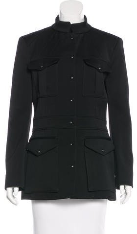 Balenciaga Balenciaga Wool Pocket-Accented Coat