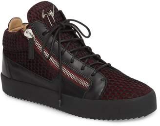 Giuseppe Zanotti Mesh Mid Top Sneaker