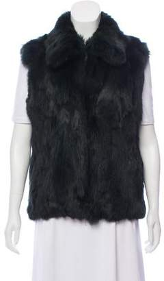 Fur Fur Zip-Up Vest