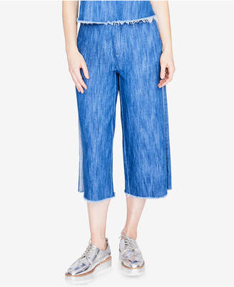 Rachel Roy Cotton Cropped Wide-Leg Jeans