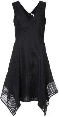 Derek Lam 10 Crosby Sleeveless V-Neck Pieced Lace Dress