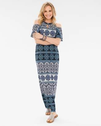 Chico's Chicos Mosaic-Print Maxi Dress