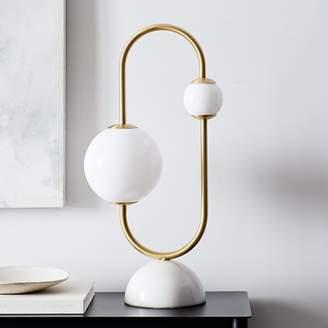 west elm Framed Sphere LED Table Lamp