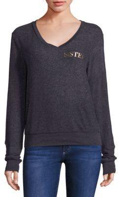 Wildfox Hey Sister Sweatshirt $98 thestylecure.com