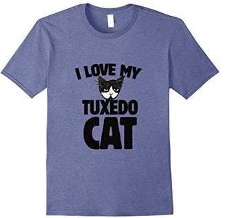 I love my tuxedo cat t-shirt fun cat lovers tee shirts