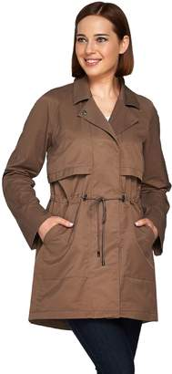 Halston H By H by Roll Tab Long Sleeve Anorak with Drawstring