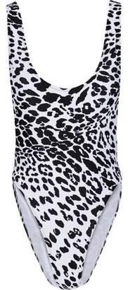 Norma Kamali Marissa Leopard-Print Swimsuit