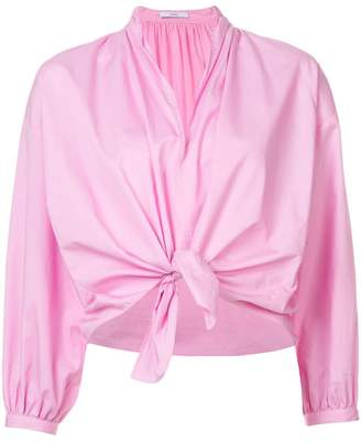 Tome bow-tied cropped shirt