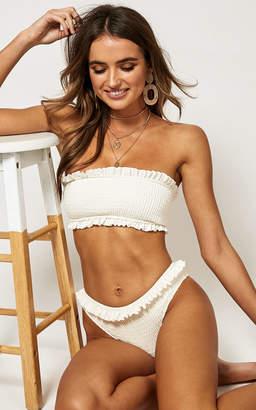 Showpo Zoe Bikini Top in Milk - 6 (XS) Bikini Sets