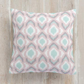 Pastel Ikat Self-Launch Square Pillows
