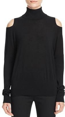 Vince Cold Shoulder Turtleneck Sweater $265 thestylecure.com