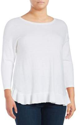 Lord & Taylor Plus Three-Quarter Sleeve Top