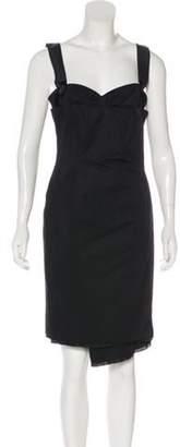 CNC Costume National Sleeveless Midi Dress Black Sleeveless Midi Dress