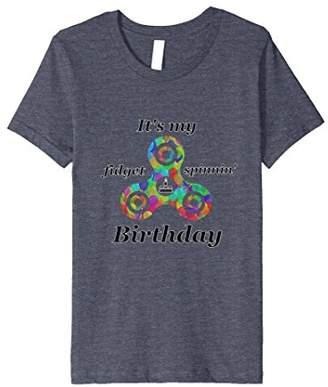 Fidget Spinner Birthday T-Shirt for Boys and Girls