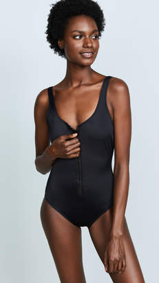 Solid & Striped The Anne Marie Zip One Piece Swimsuit