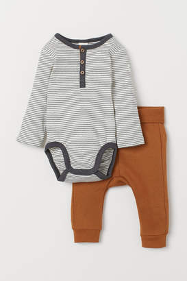 H&M Bodysuit and trousers
