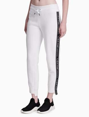 Calvin Klein fleece flocked logo jogger sweatpants