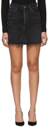 Citizens of Humanity Black Denim Astrid Miniskirt