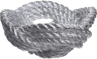 Areaware Knotted Rope Bowl, Bowl Chrome
