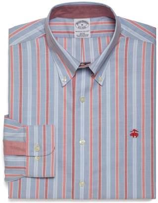 Brooks Brothers Non-Iron Slim Fit Alternating Framed Triple Stripe Sport Shirt
