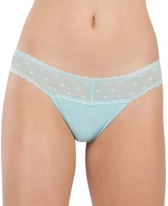 Juniors' Lemon & Bloom Polka Dot Mesh Thong Panty LBF17101