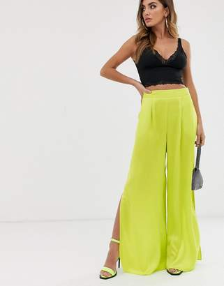 Asos Design DESIGN wide leg with thigh split