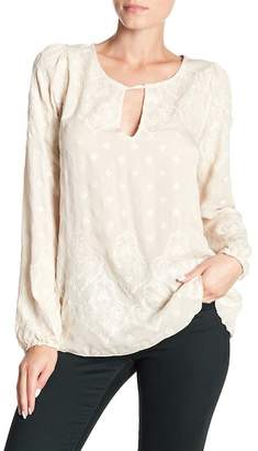 Johnny Was Fall Moon Silk Blouse