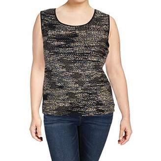 Kasper Women's Plus Size Double U Neck Tank with Ity Binding